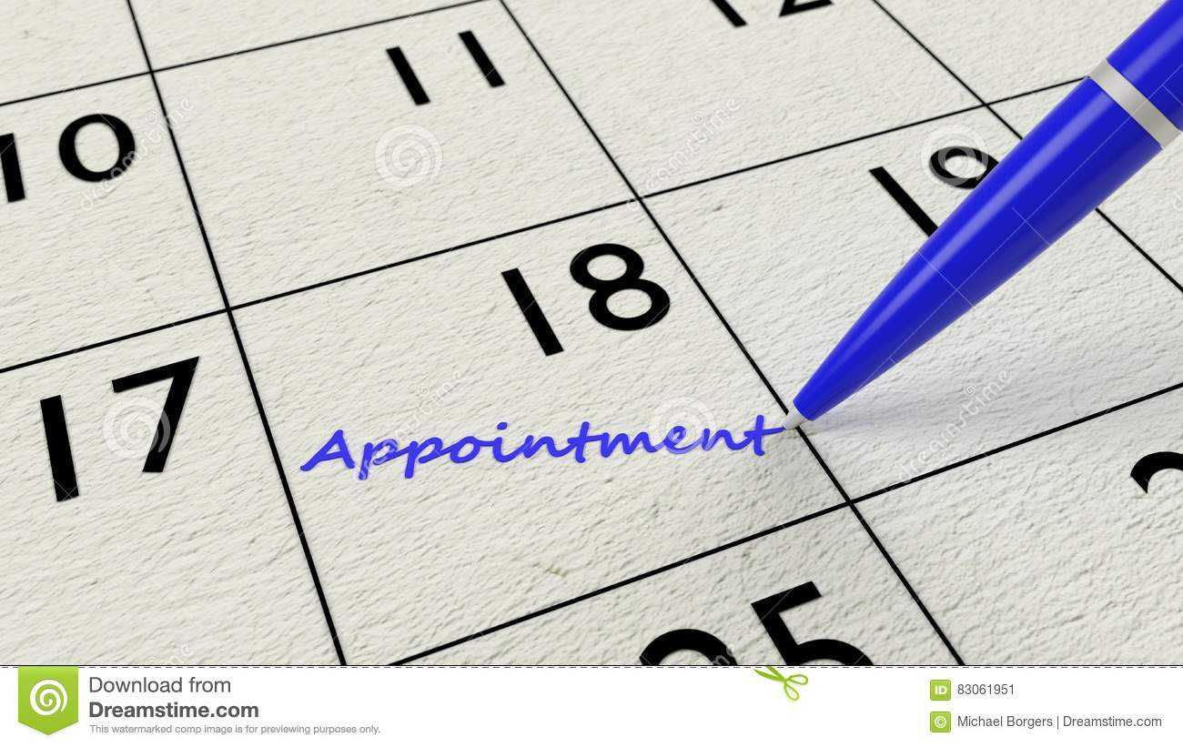 Appointment Calendar Pen And Paper Stock Illustration Illustration