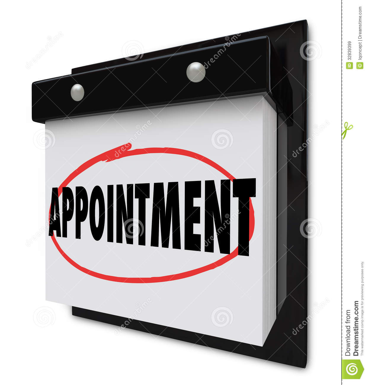 Appointment Reminder On Calendar Schedule Royalty Free Stock Images ...