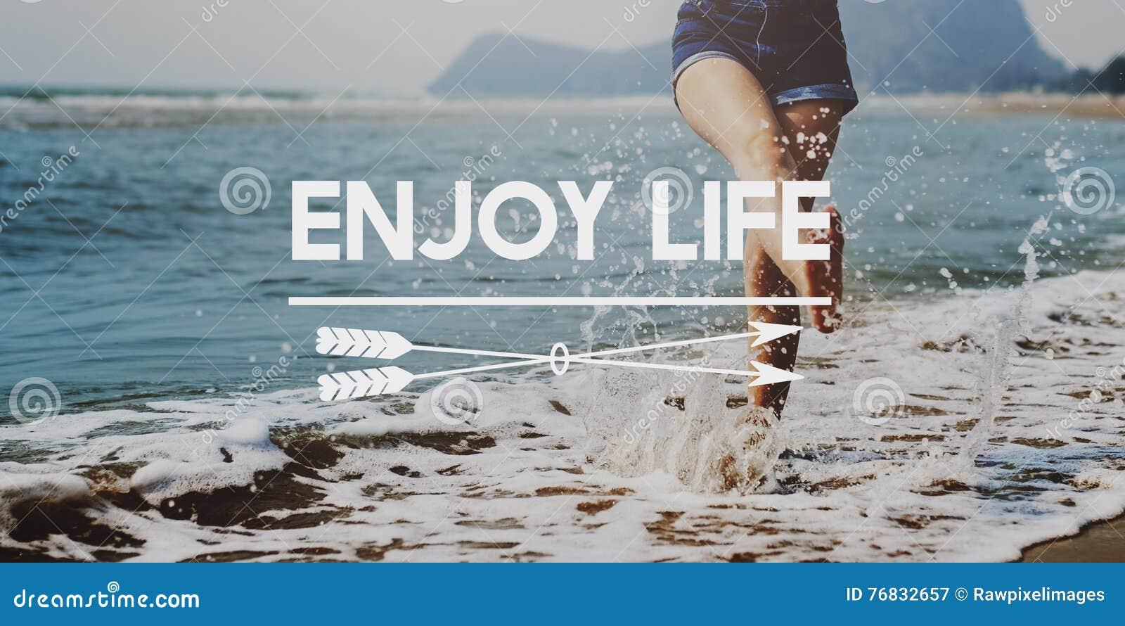 Appréciez le concept délicieux de bonheur agréable de plaisir de la vie