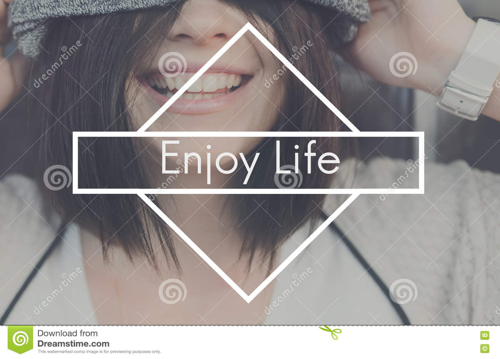 Appréciez le concept de Live Love Like Love Joy de bonheur de la vie