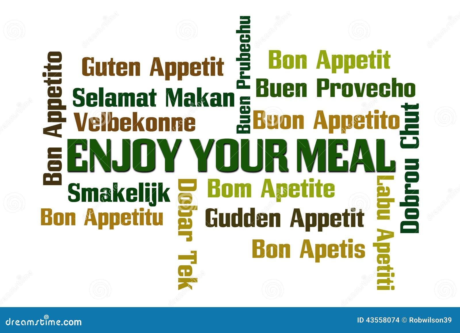 Appréciez votre repas