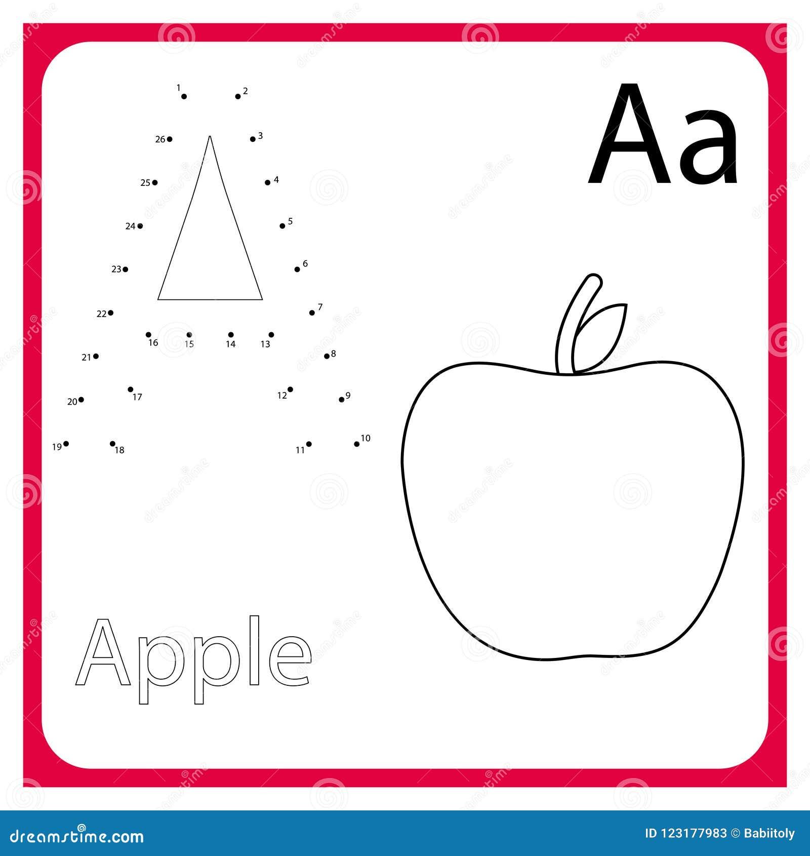 Apprendimento dell alfabeto worksheet Apprendimento della lettera Pagina della pittura Illustrazione di vettore