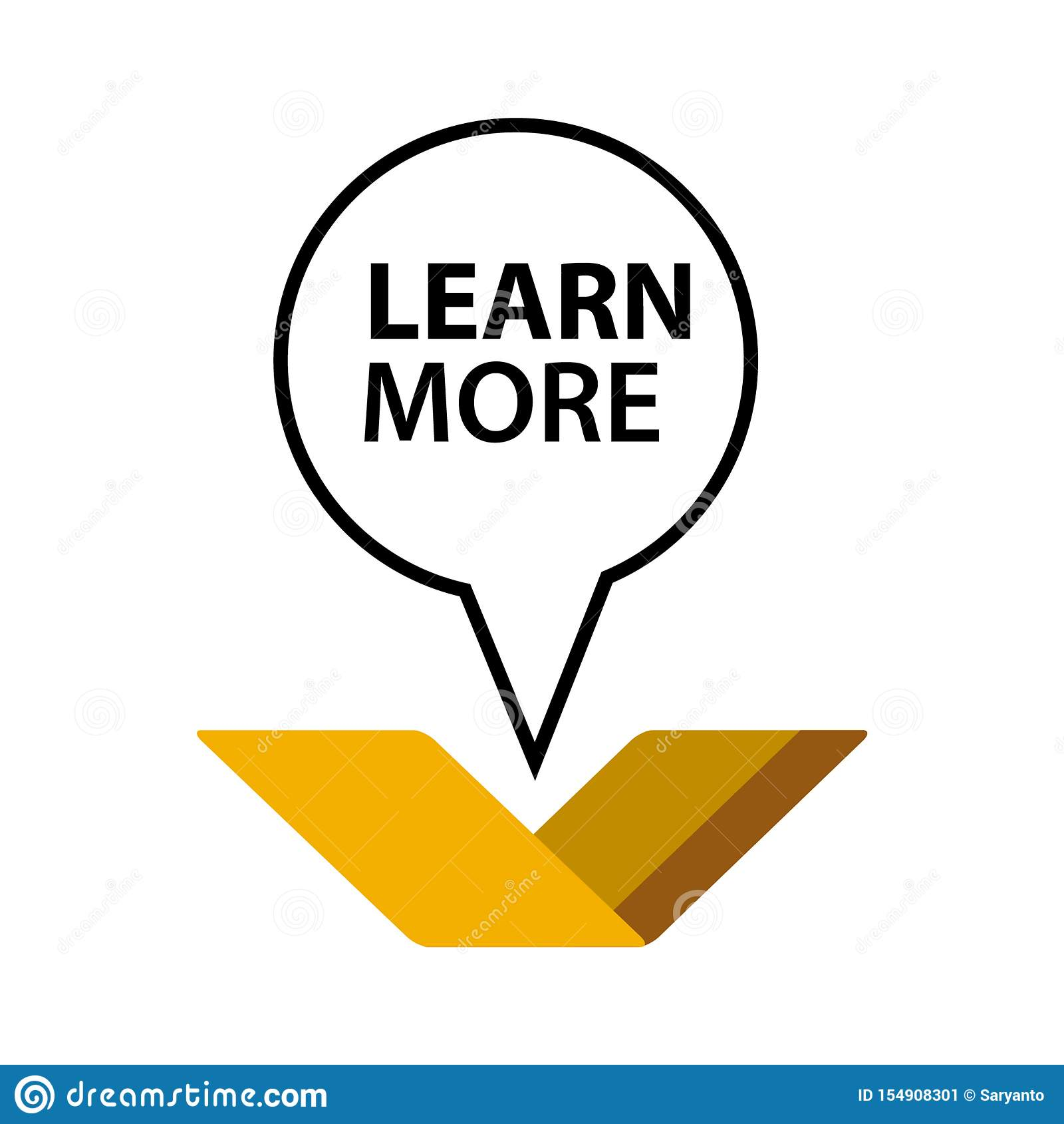 Apprenez plus avec des livres Illustration dans le format de vecteur Conception plate