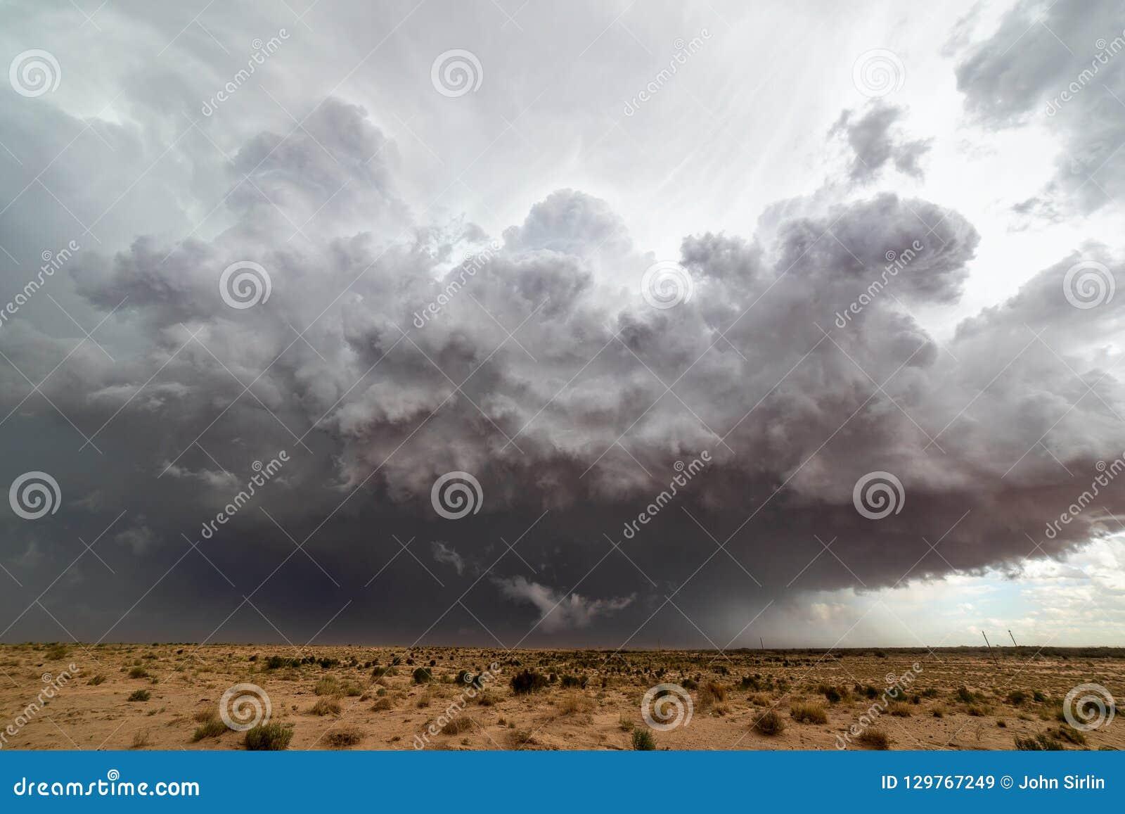Approche étroite de nuages de tempête