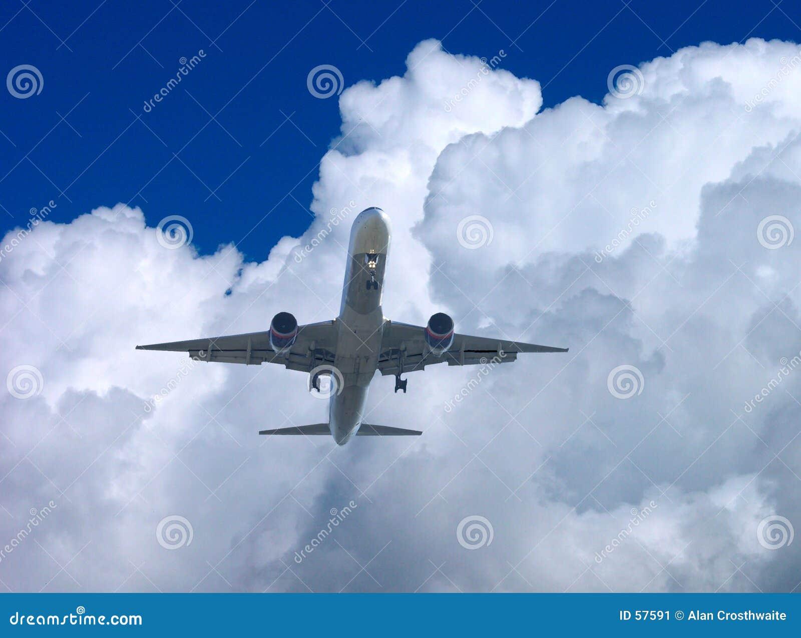 Download Approche finale image stock. Image du aéroport, airline - 57591