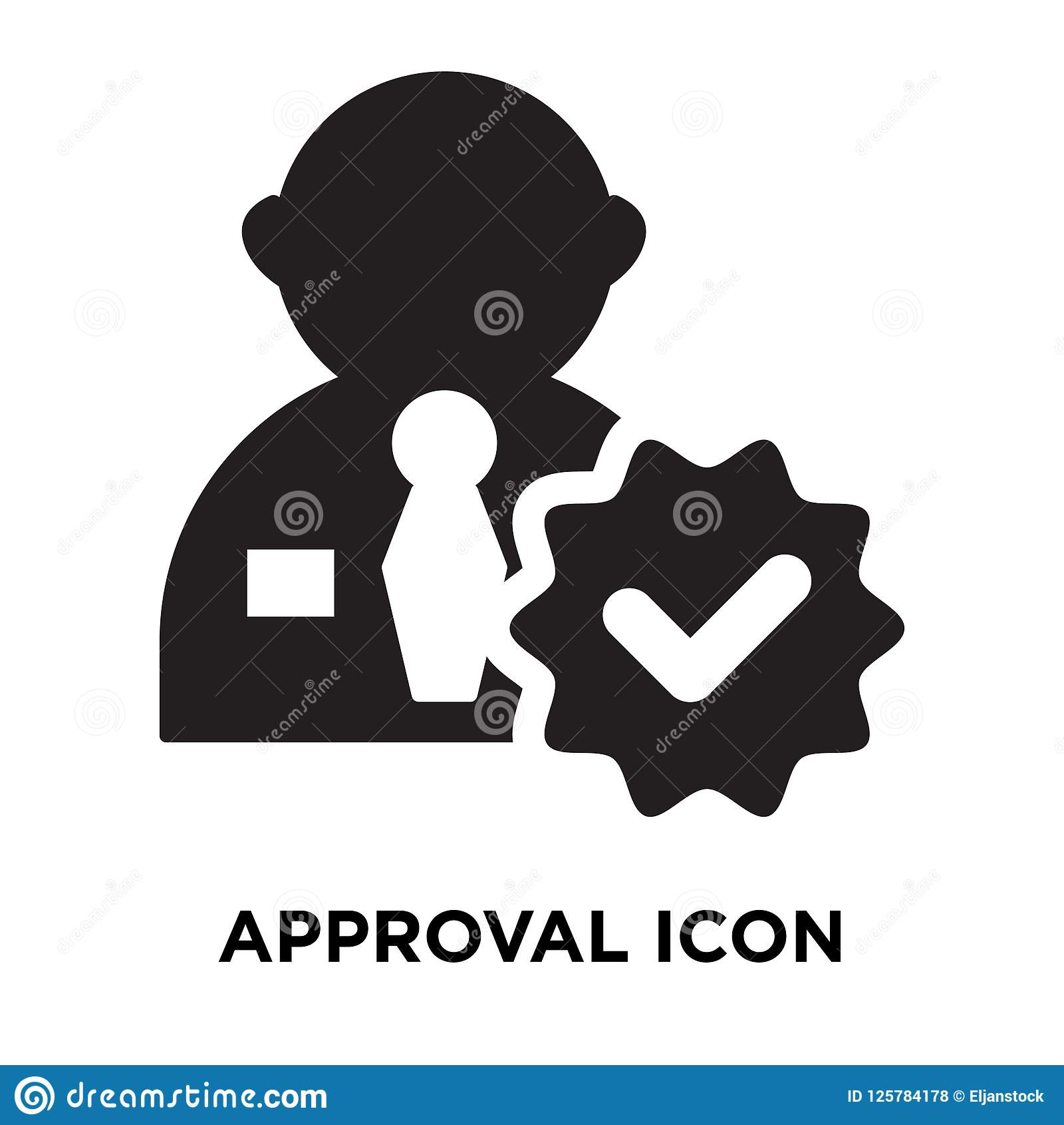 approval icon vector isolated on white background logo concept