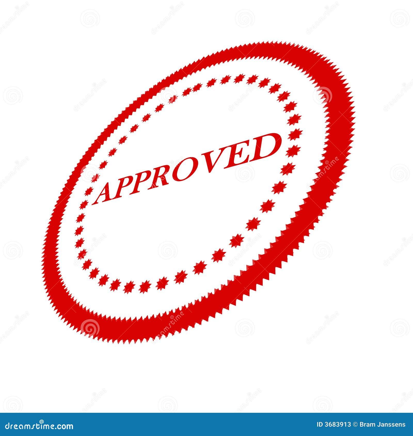 approval stamp stock illustration illustration of quality 3683913