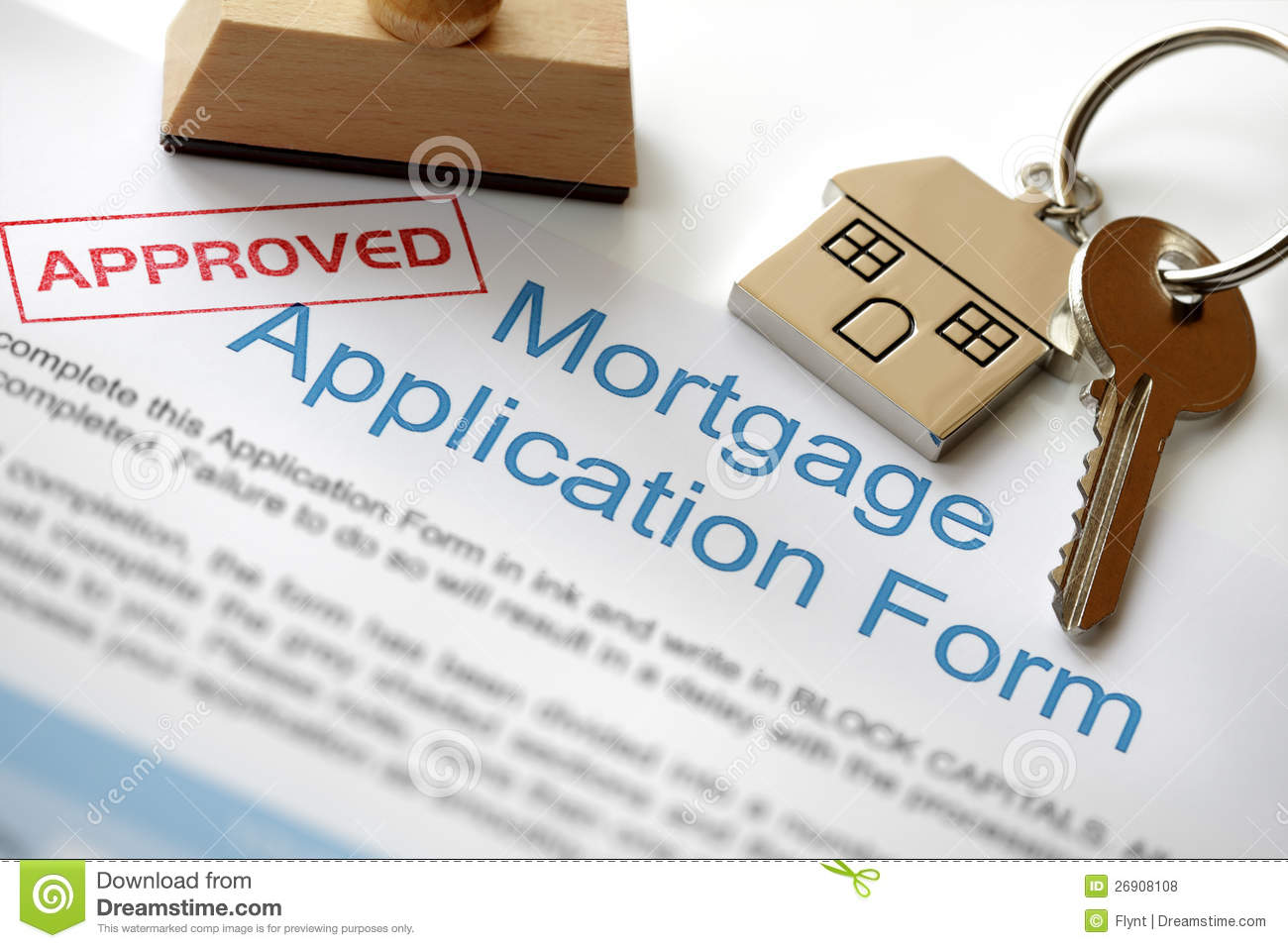 Approved Mortgage Application Royalty Free Stock Photos - Image: 26908108