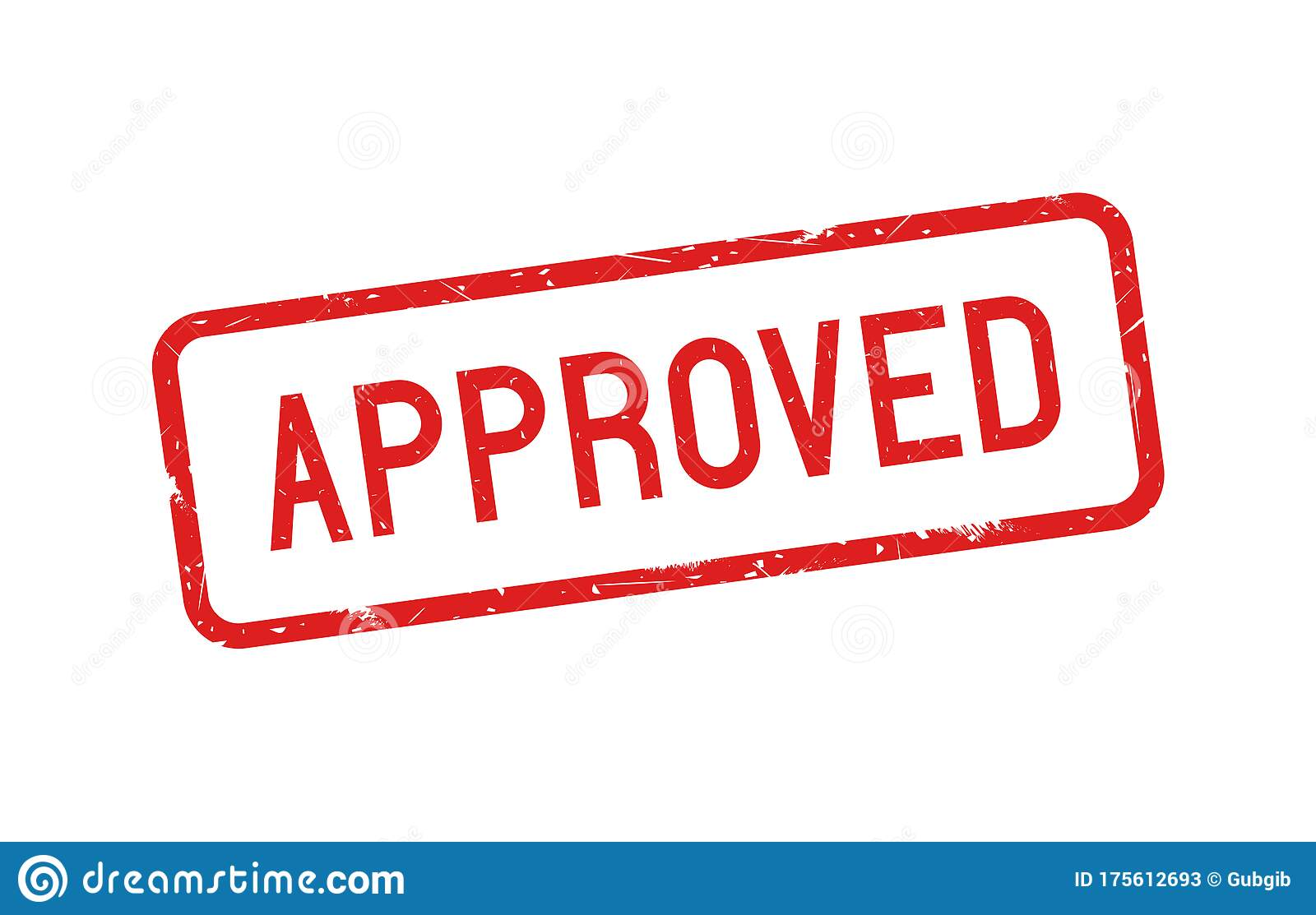 Approved With Red Grunge Rubber Stamp Stock Vector ...