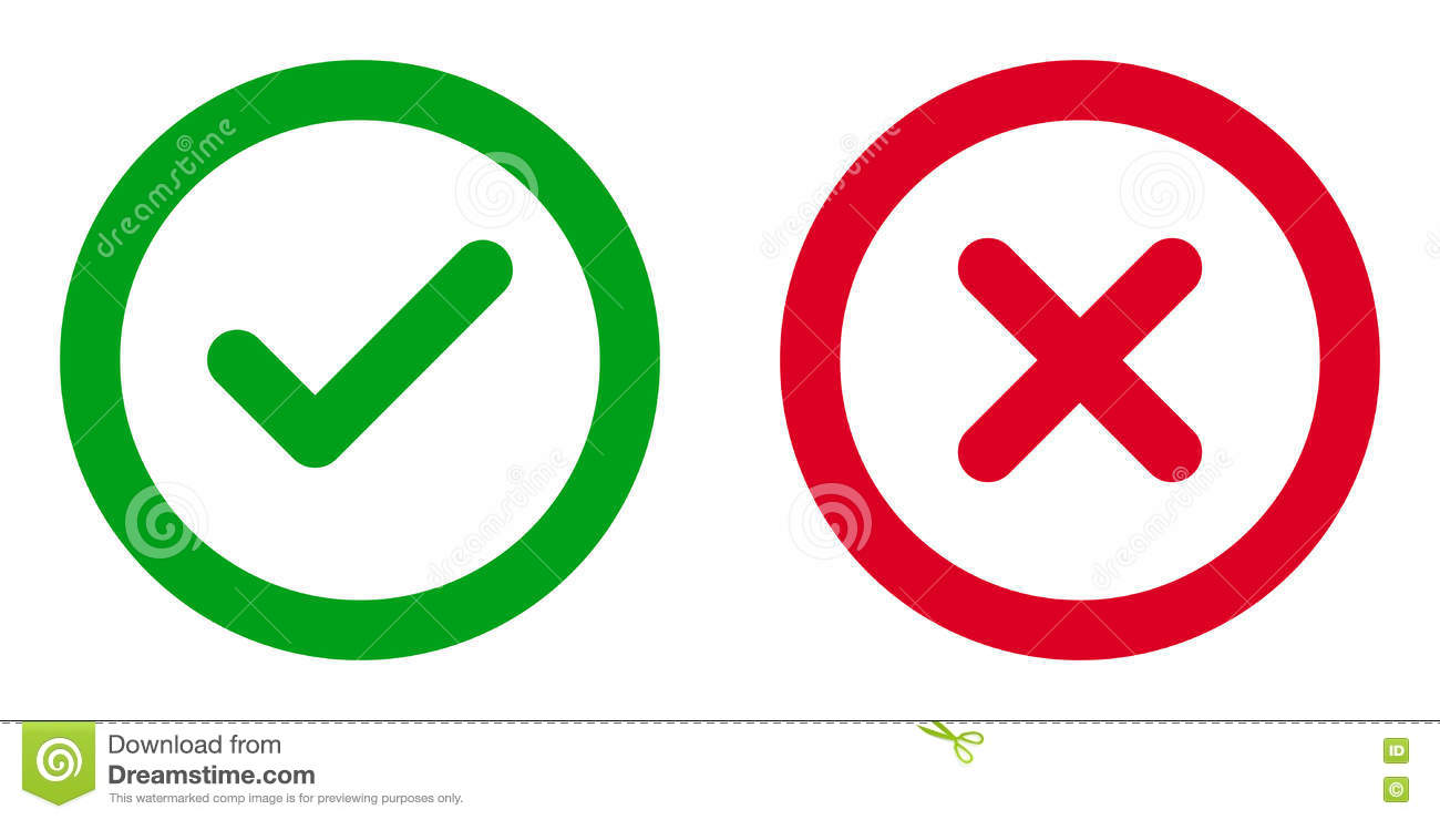 Approved And Rejected Icons Stock Vector - Illustration of ...