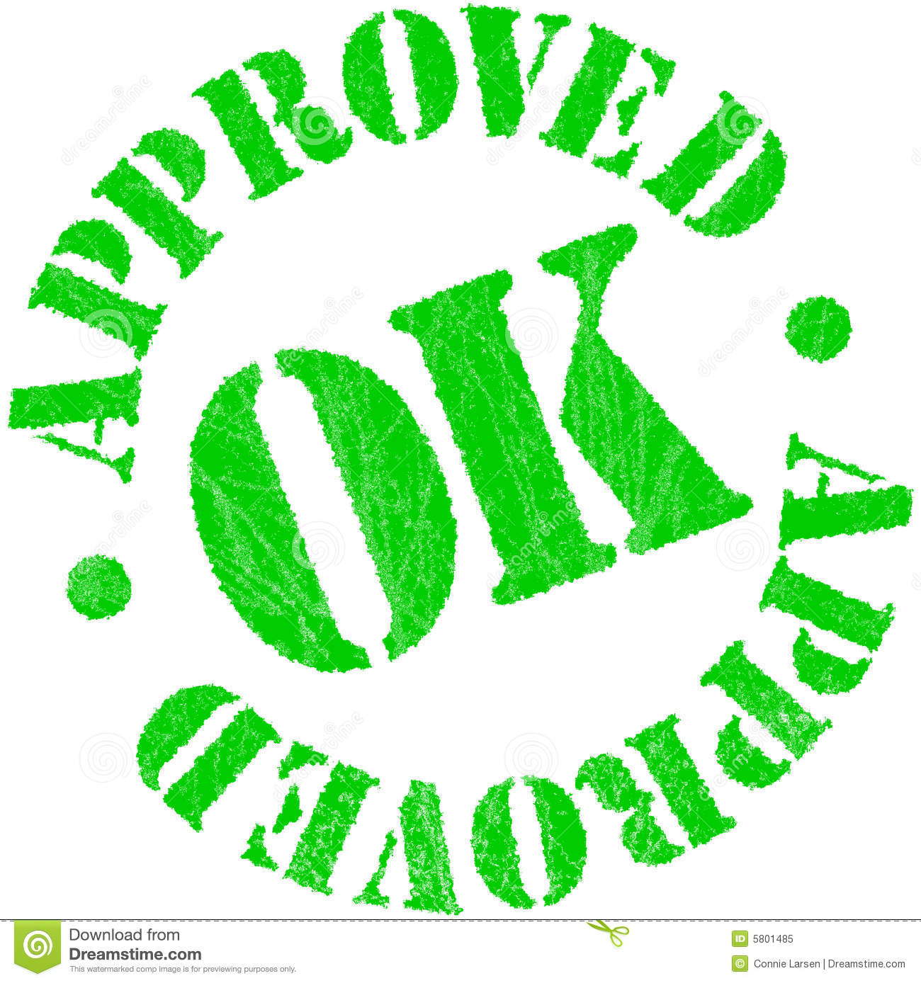 Approved Rubber Stamp Stock Illustration Image Of Checked