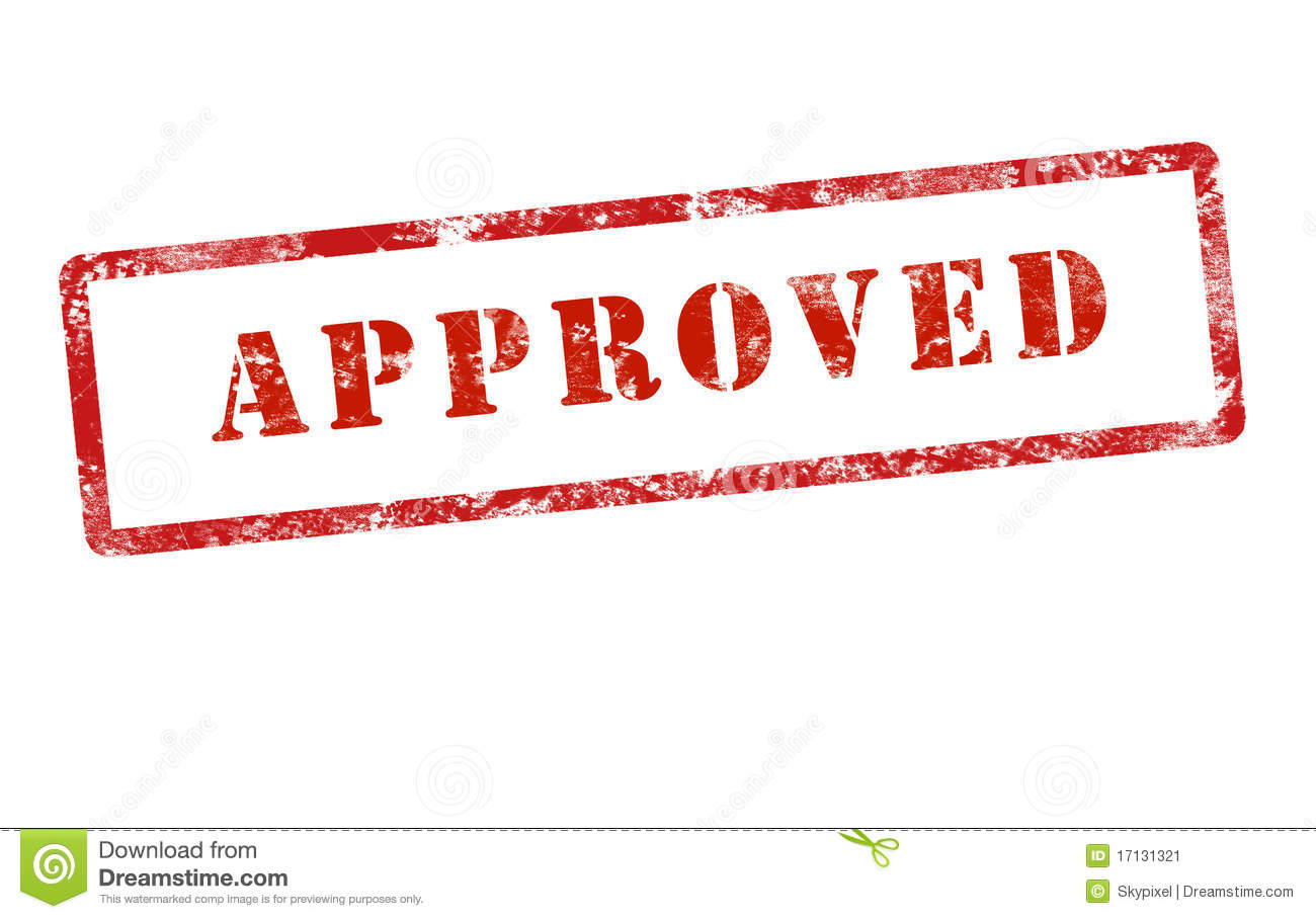 Approved Stamp Mark Grunge Stock Image - Image: 17131321