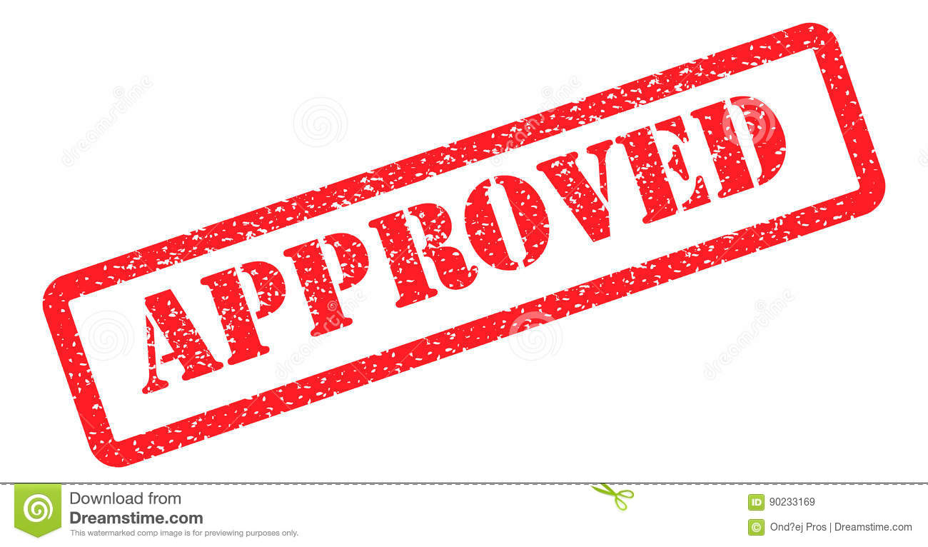 Approved stamp red