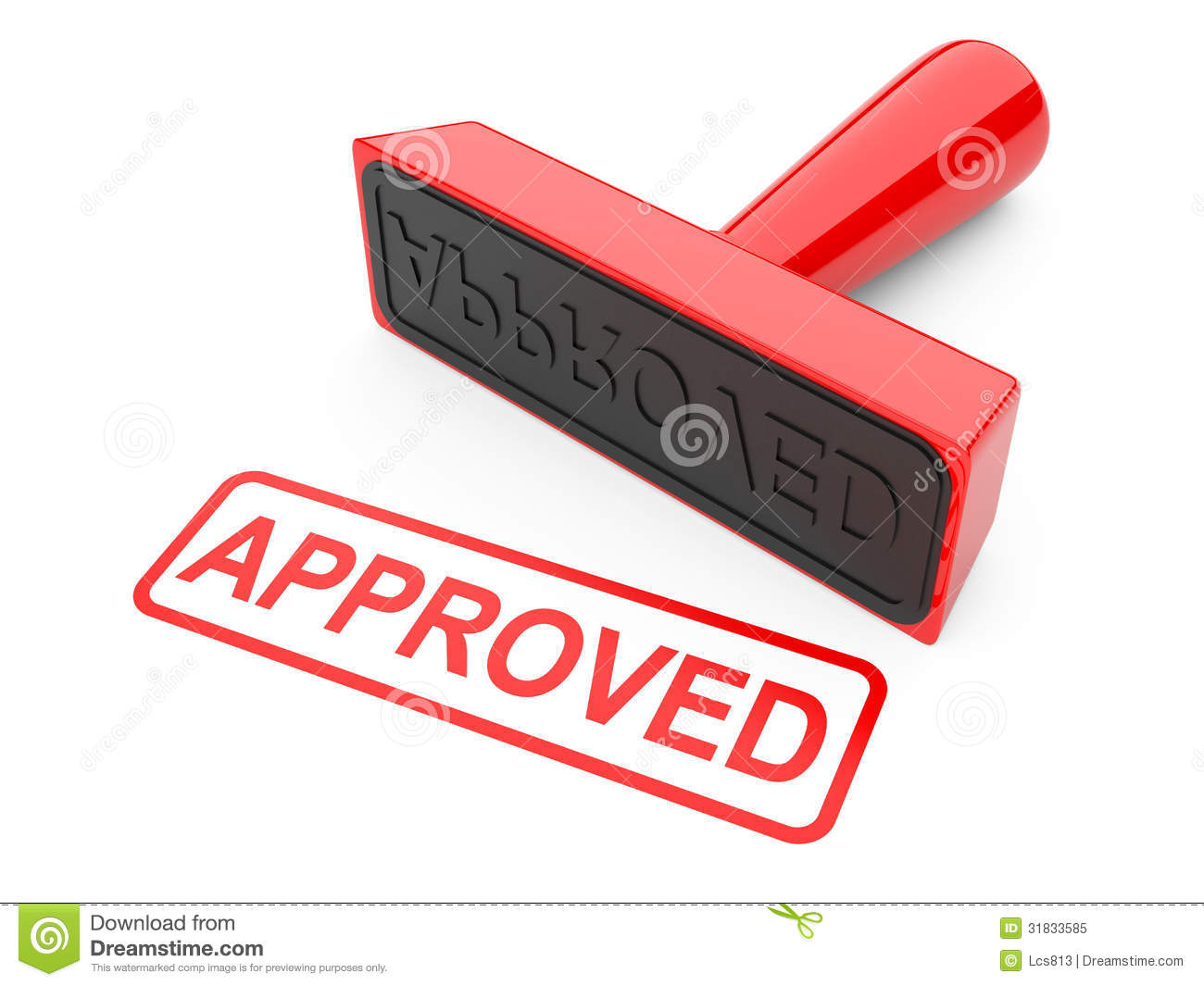 Approved Stamp Royalty Free Stock Photo Image 31833585