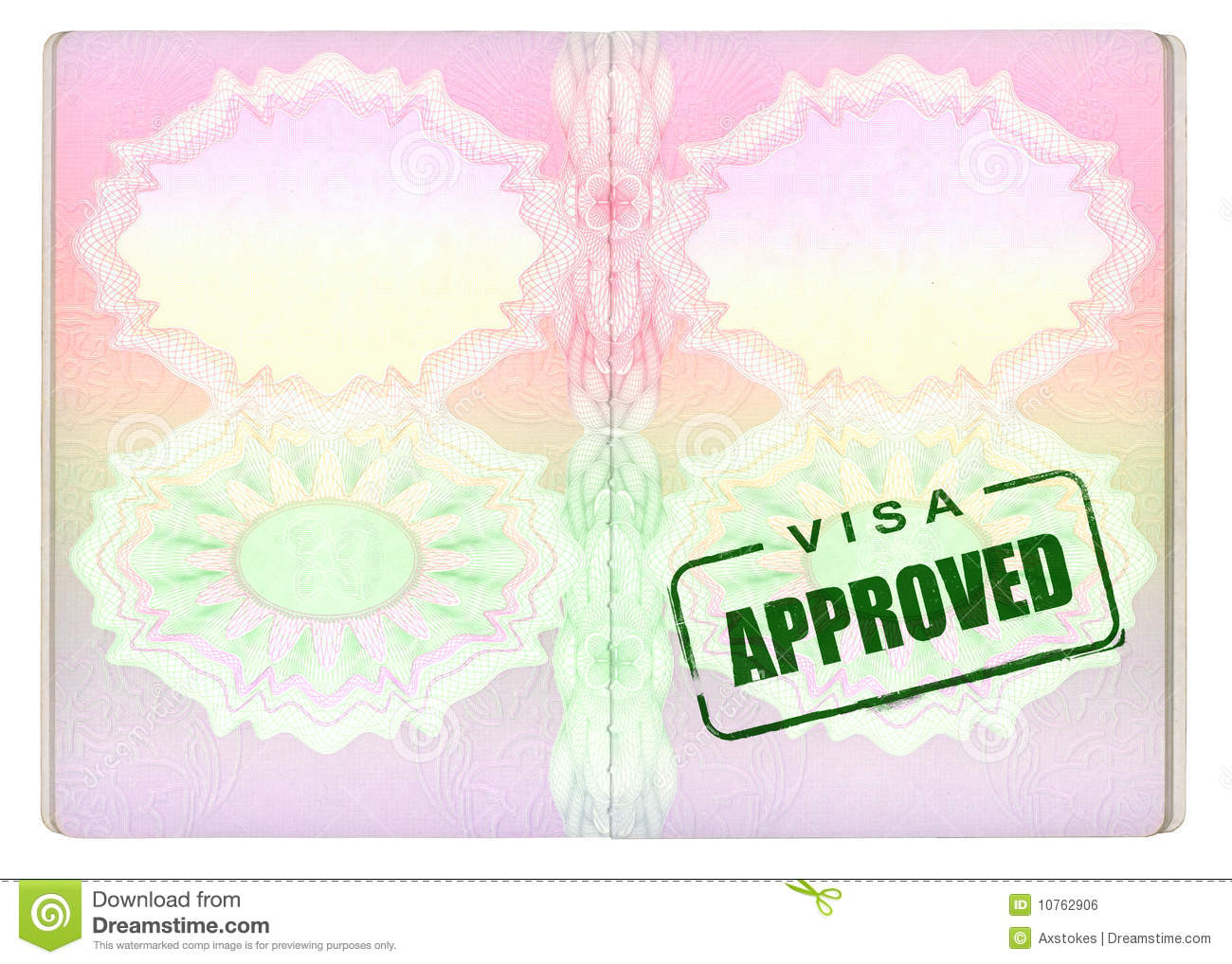 Approved Visa On Passport Royalty Free Stock Image Image