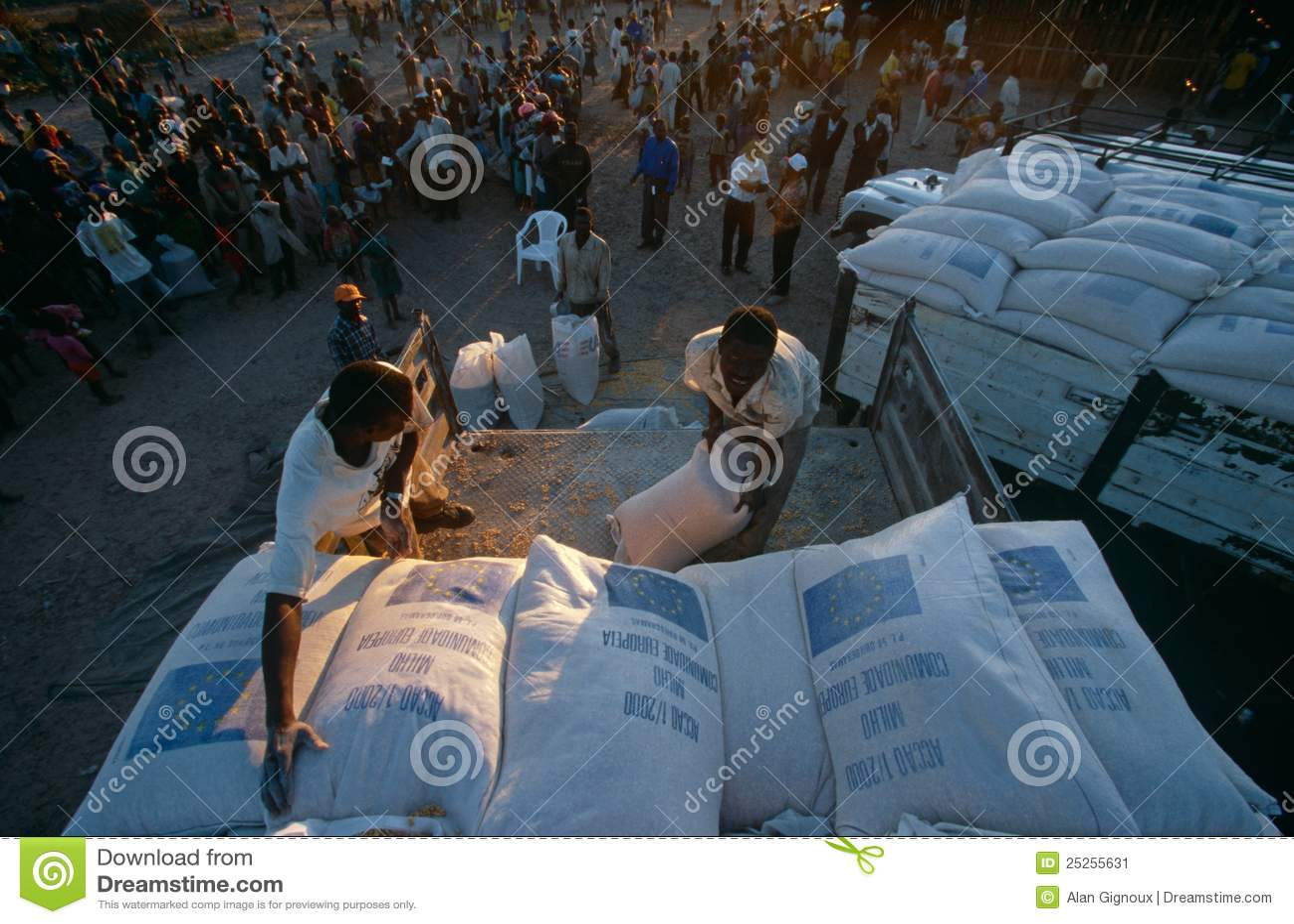 Approvisionnements d allégement pour les personnes déplacées en Angola