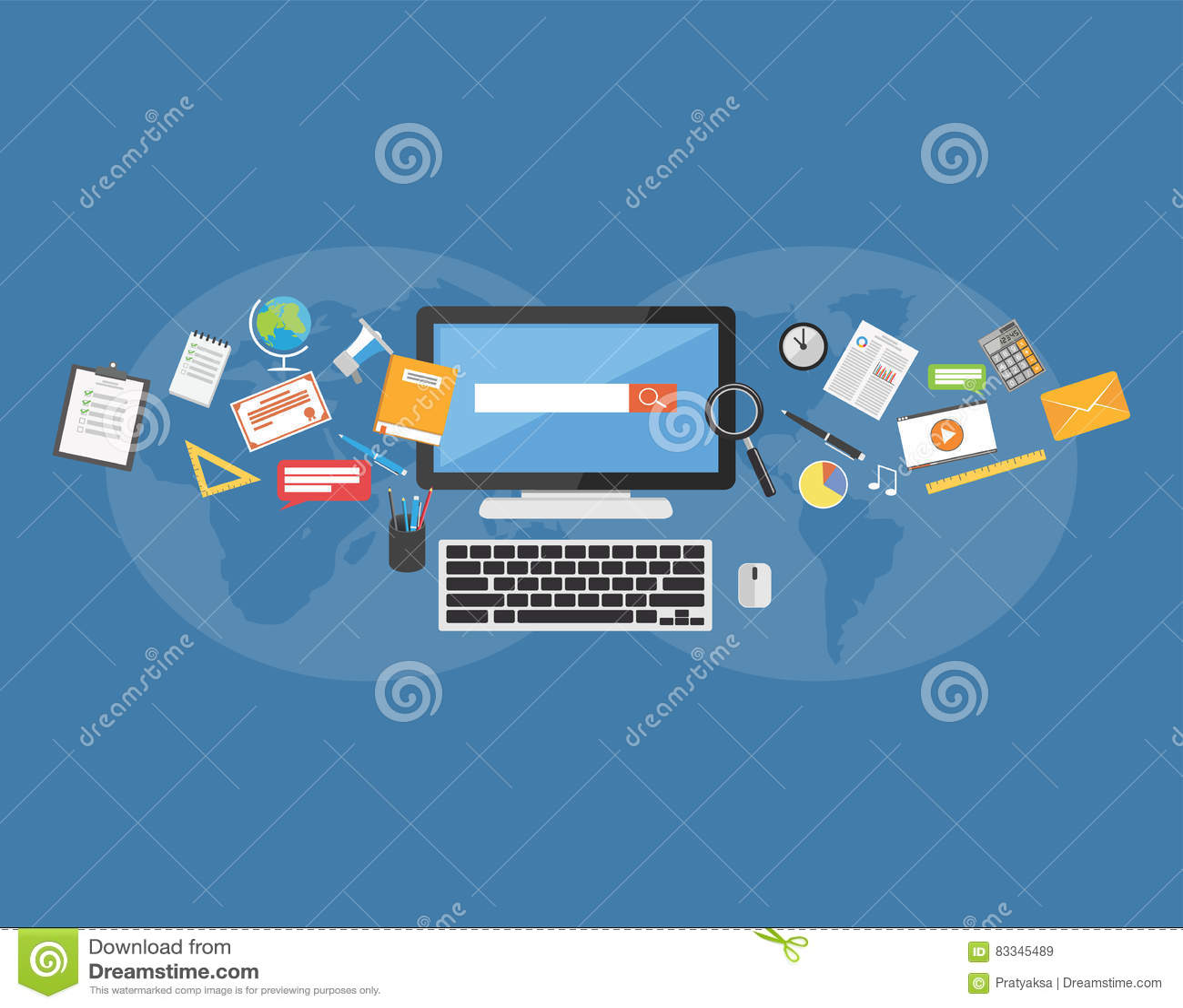 Approvisionnements d université Apprentissage en ligne Partager la connaissance