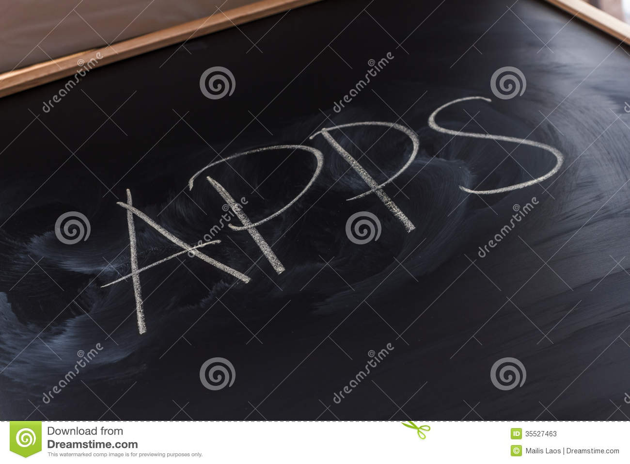 Download Apps on the Blackboard stock image. Image of software - 35527463