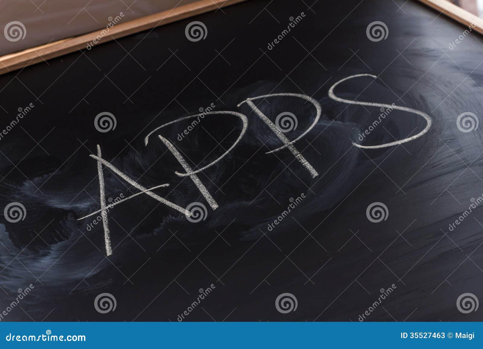 Chalk writing app