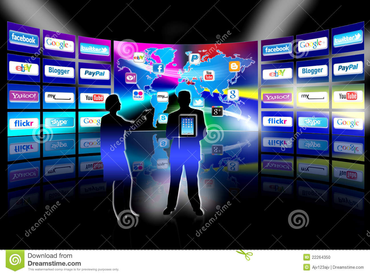 Apps mobile network video wall presentation