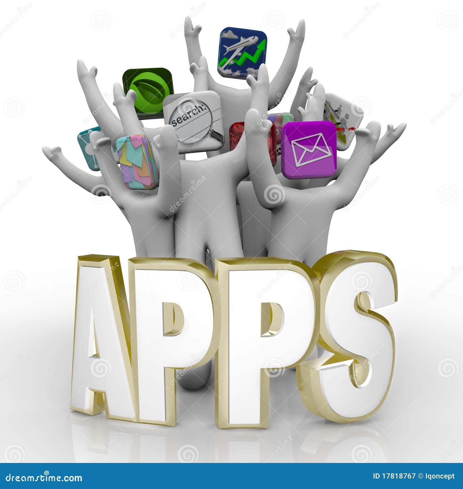 Apps - palabra y el animar de la gente