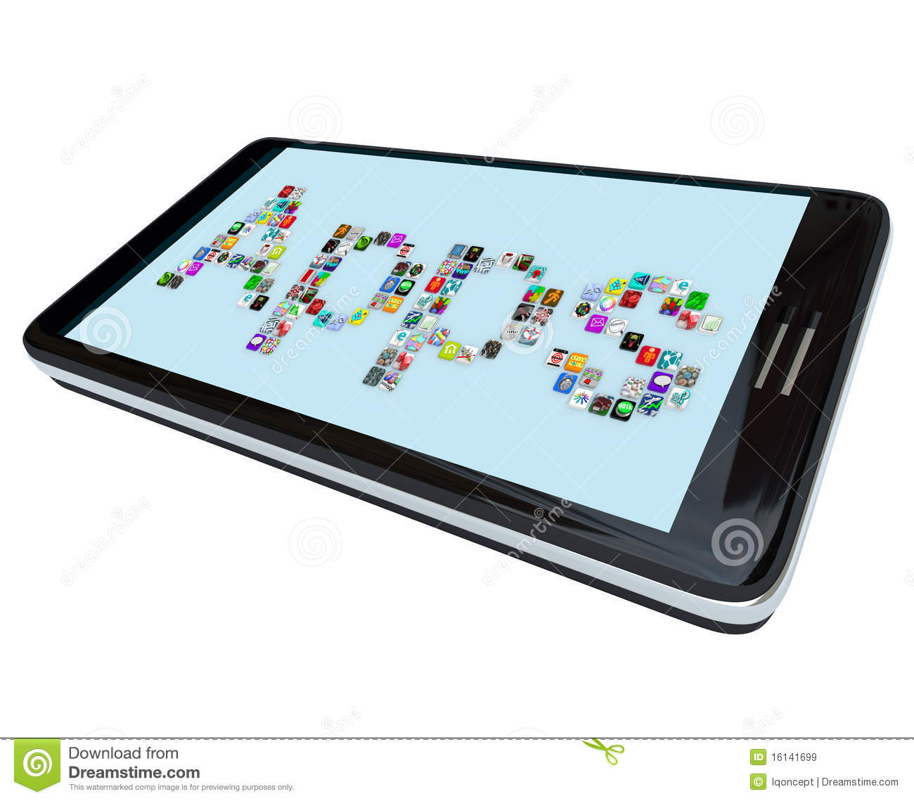 Apps tile icons on smart phone royalty free stock images for Tile planner app