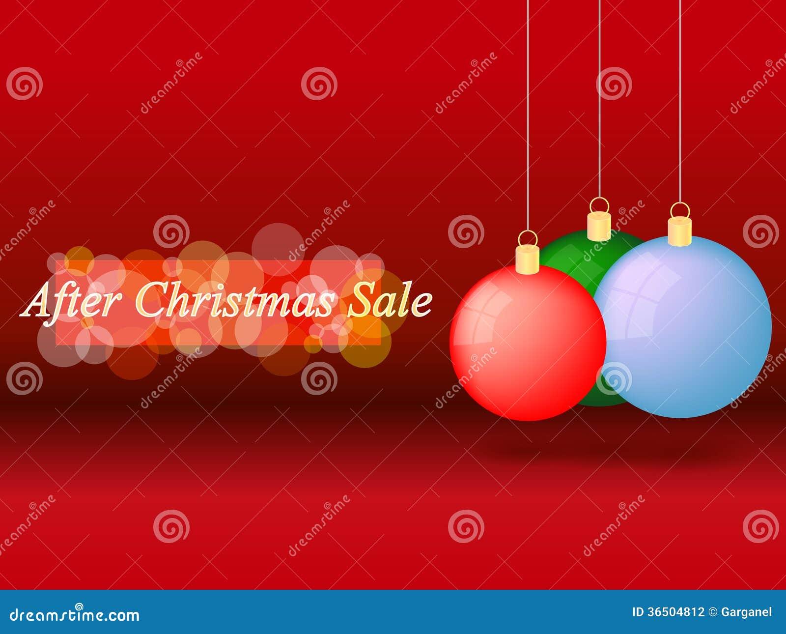 Après vente de Noël