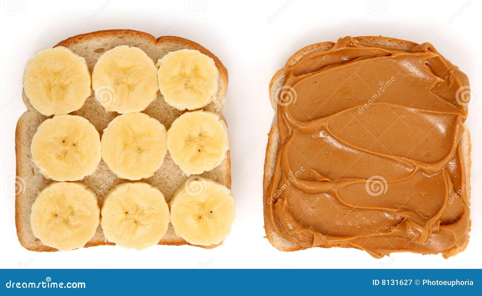 Apra il burro di arachide ed il panino della banana