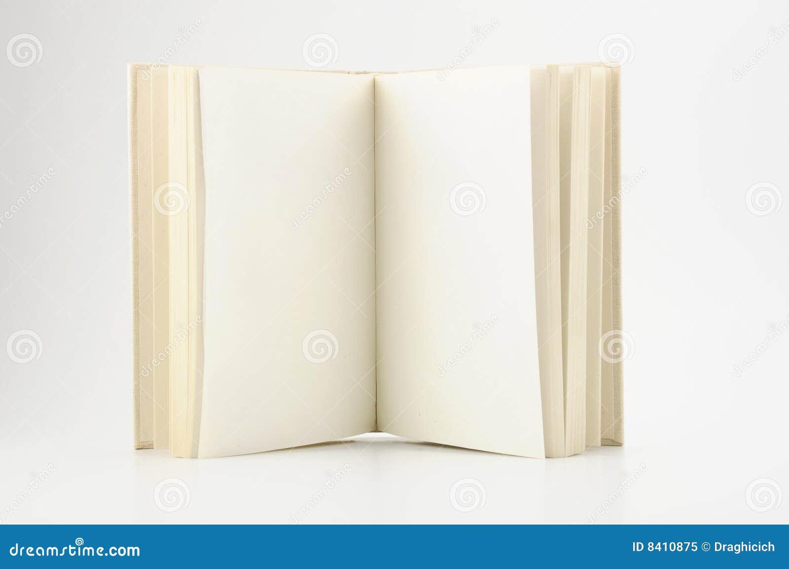 Apra il libro con le pagine vuote