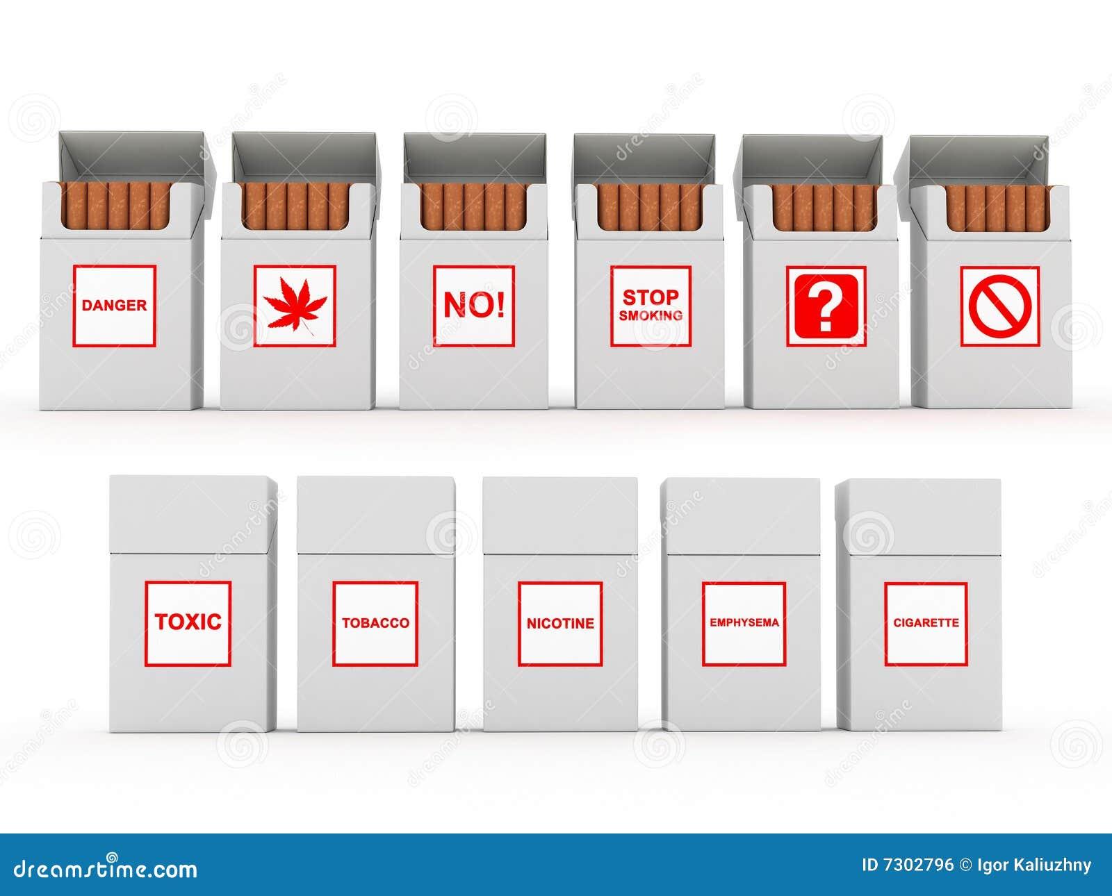 Apra il pacchetto delle sigarette