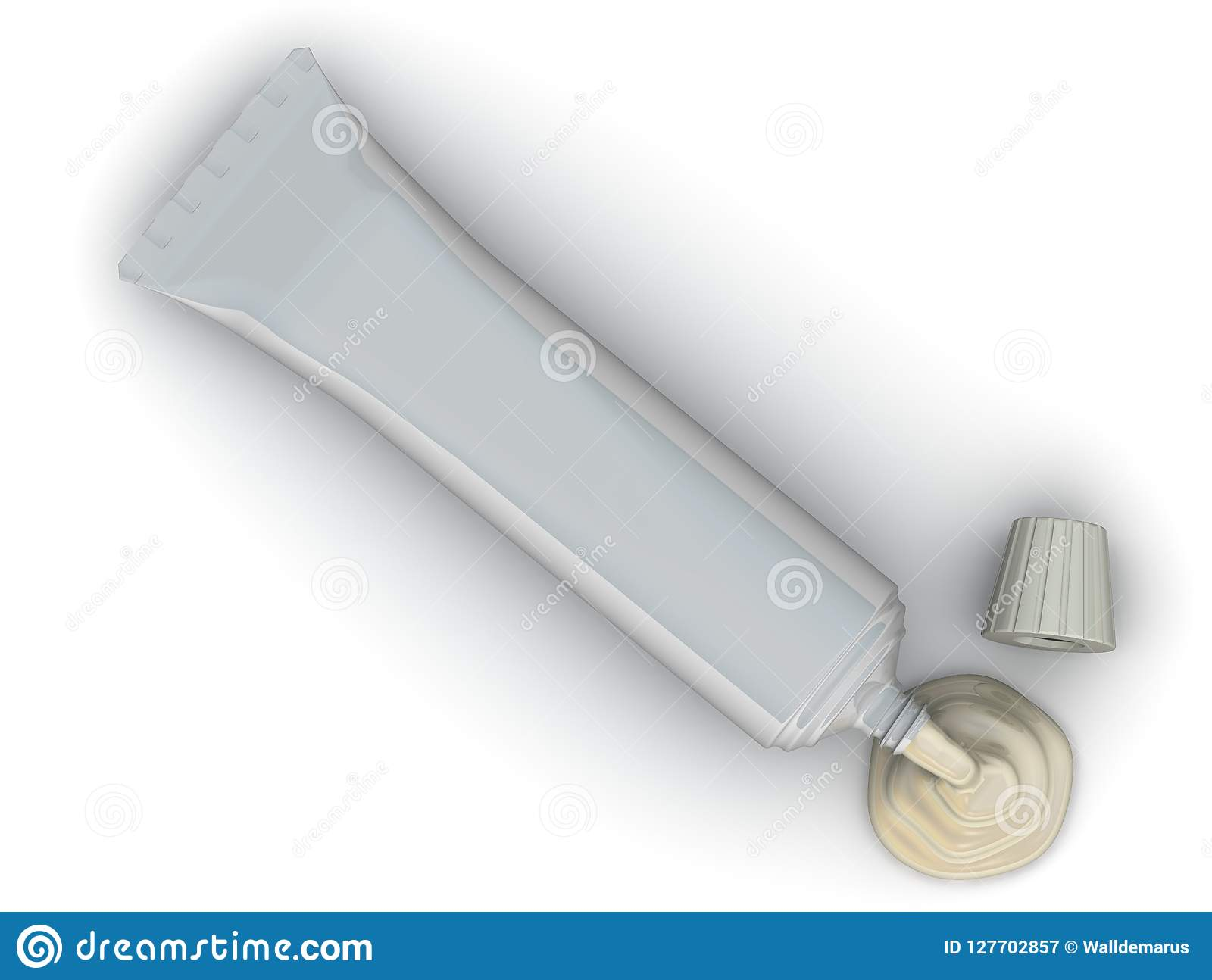 Apra il tubo con crema
