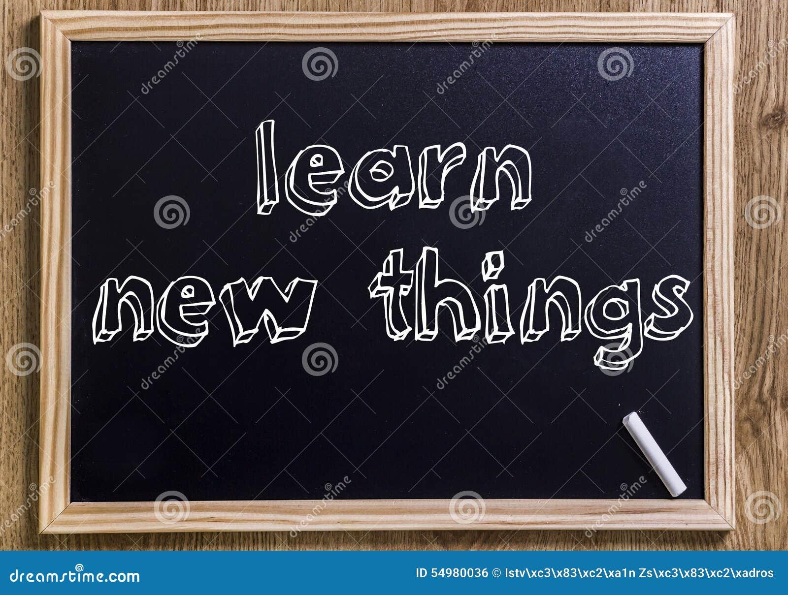 Aprenda coisas novas