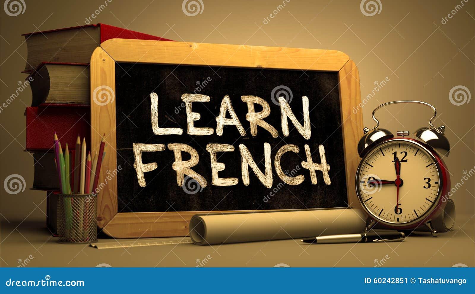 Aprenda o francês - citações inspiradores no quadro
