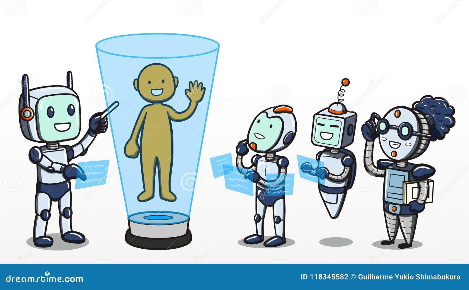 Aprendizagem de máquina - robôs que aprendem sobre o corpo humano