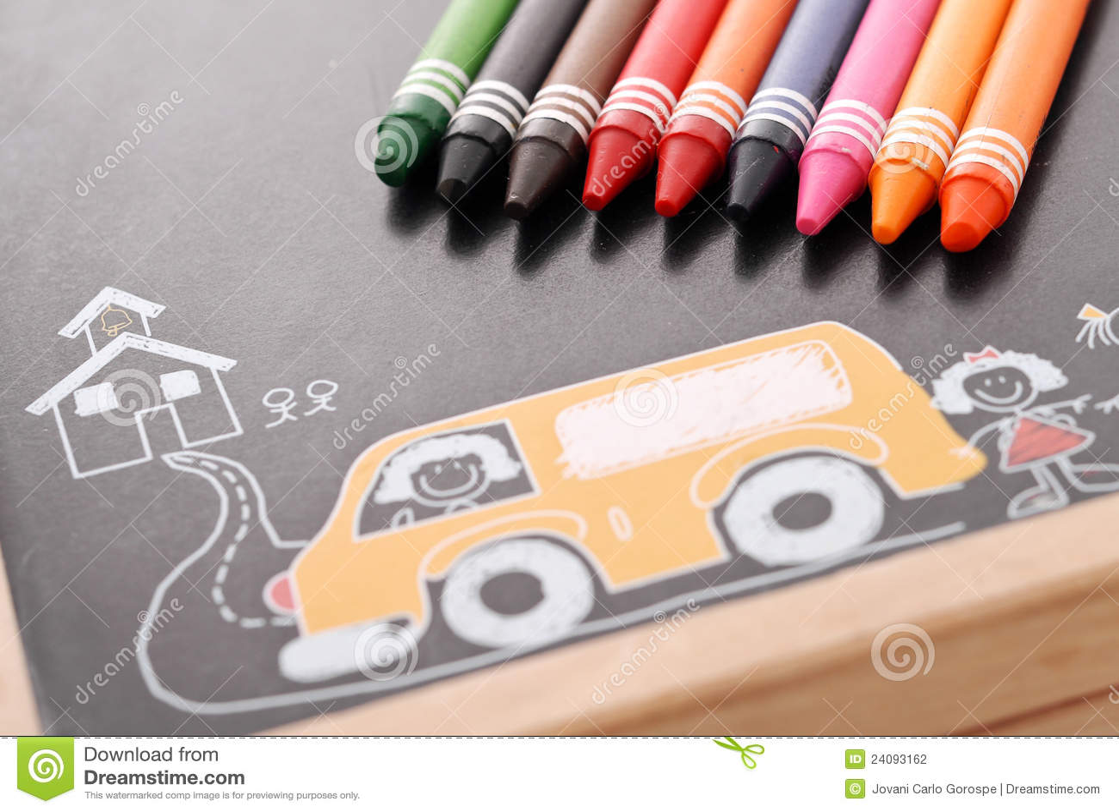 Aprendizaje de colores foto de archivo. Imagen de creyón - 24093162