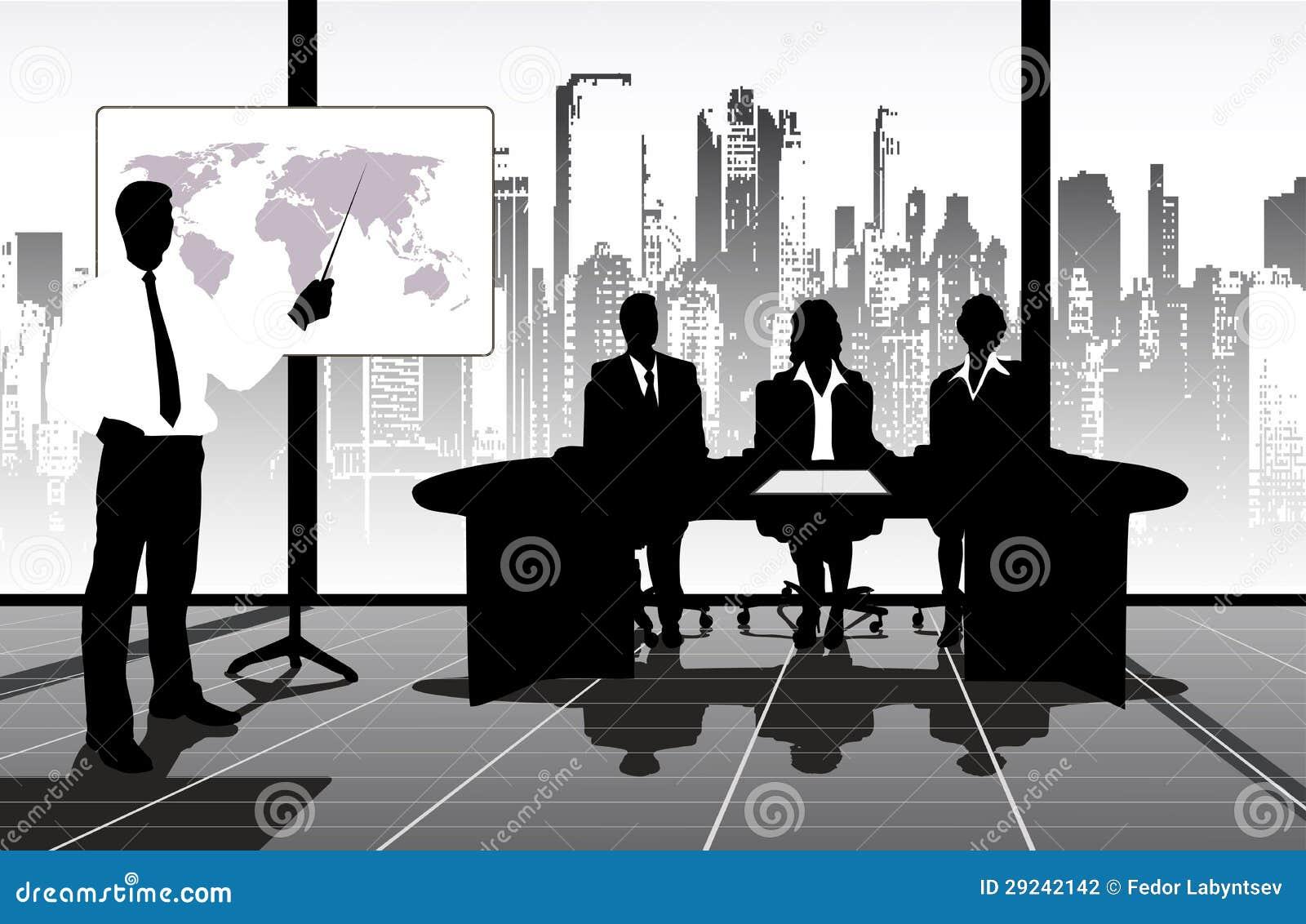 Download Apresentação ilustração stock. Ilustração de maduro, conferência - 29242142