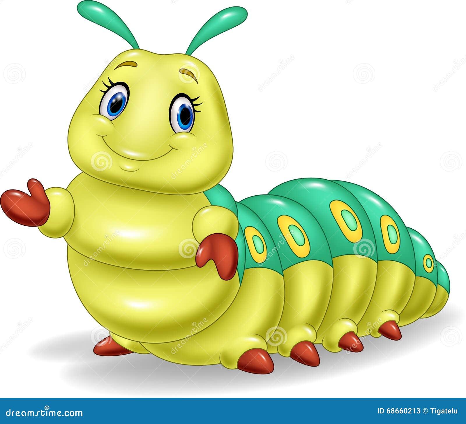 Apresentação bonito da lagarta