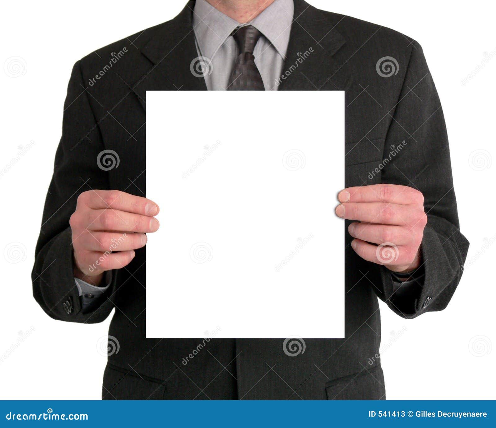 Apresentação do homem de negócios (espaço em branco)