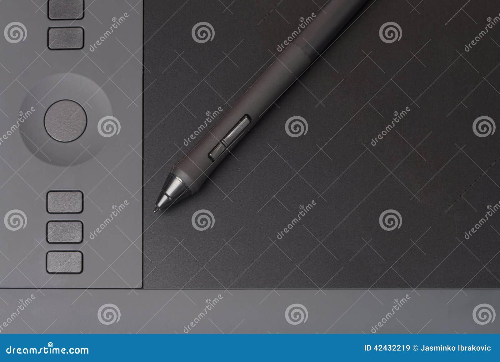 Apretón Pen On Graphic Tablet