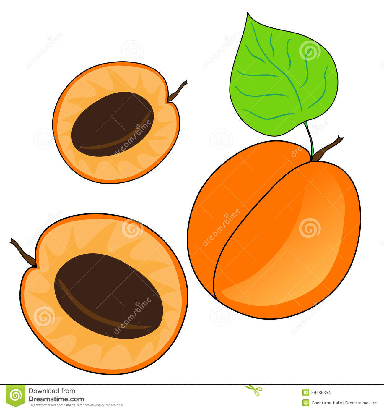 Basket Of Apples Clipart Ripe apricot fruits, w...