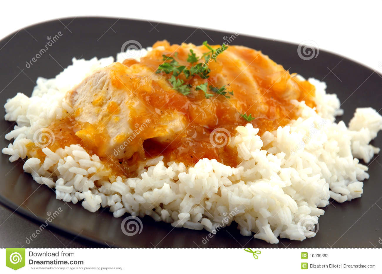 Apricot Glazed Chicken Stock Photography - Image: 10939882