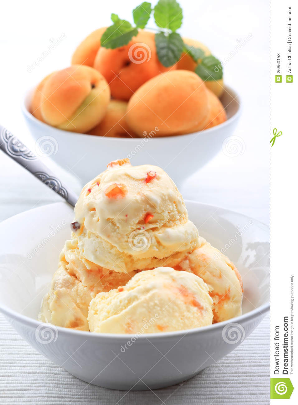Apricot Ice Cream Royalty Free Stock Photos - Image: 25850158