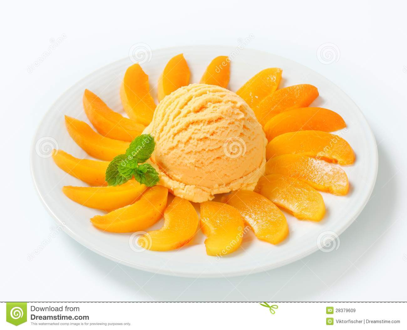 Apricot Ice Cream Royalty Free Stock Images - Image: 28379609
