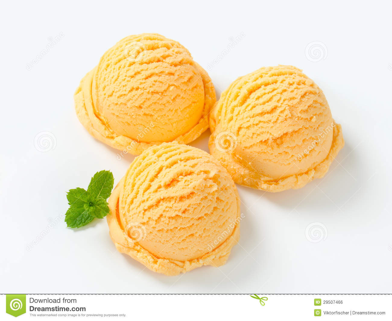 Apricot Ice Cream Royalty Free Stock Image - Image: 29507466
