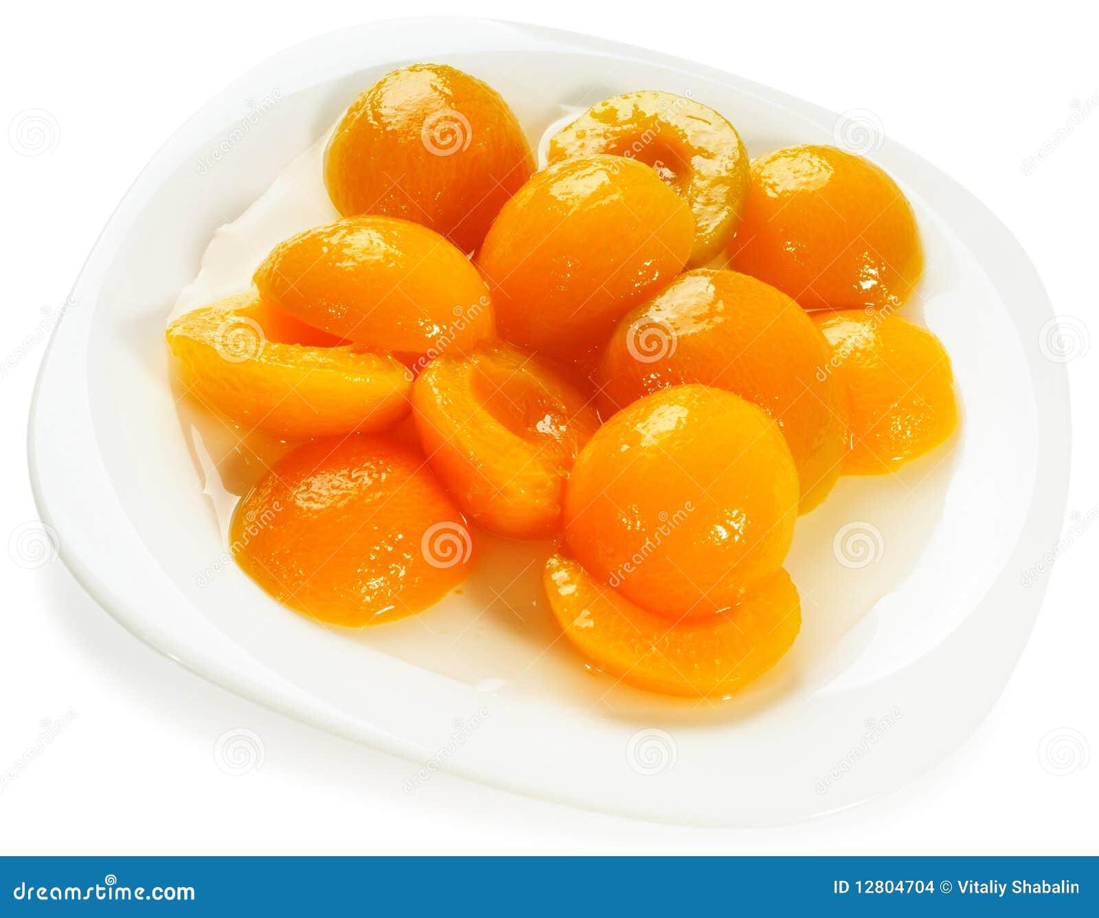 Aprikosen halves plattan