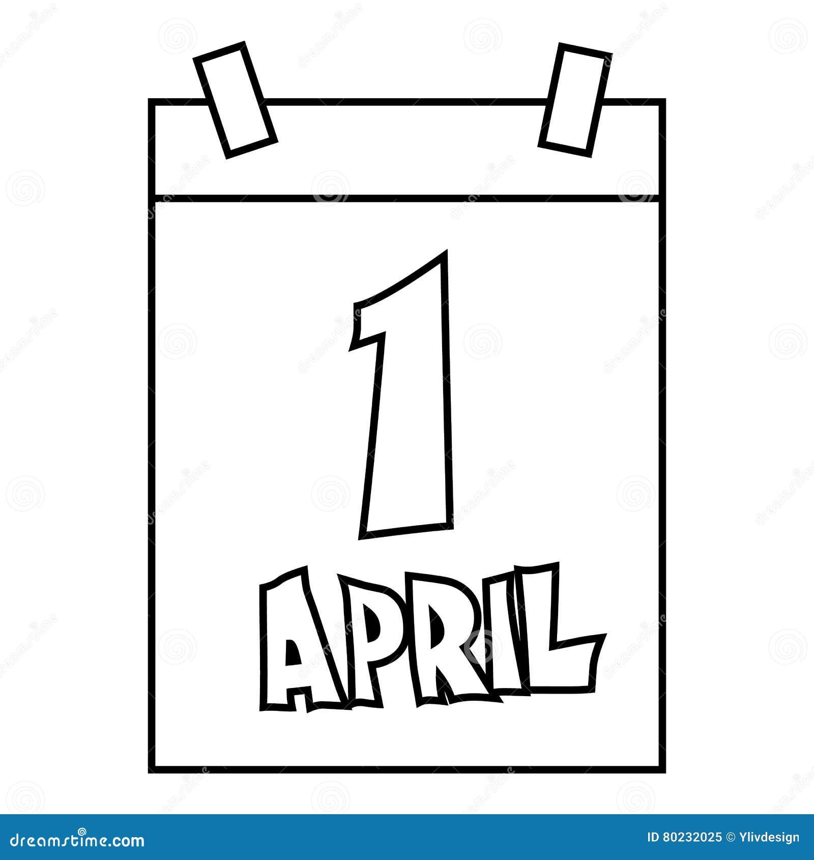 Calendar April Fools Day : April fools day calendar icon vector illustration
