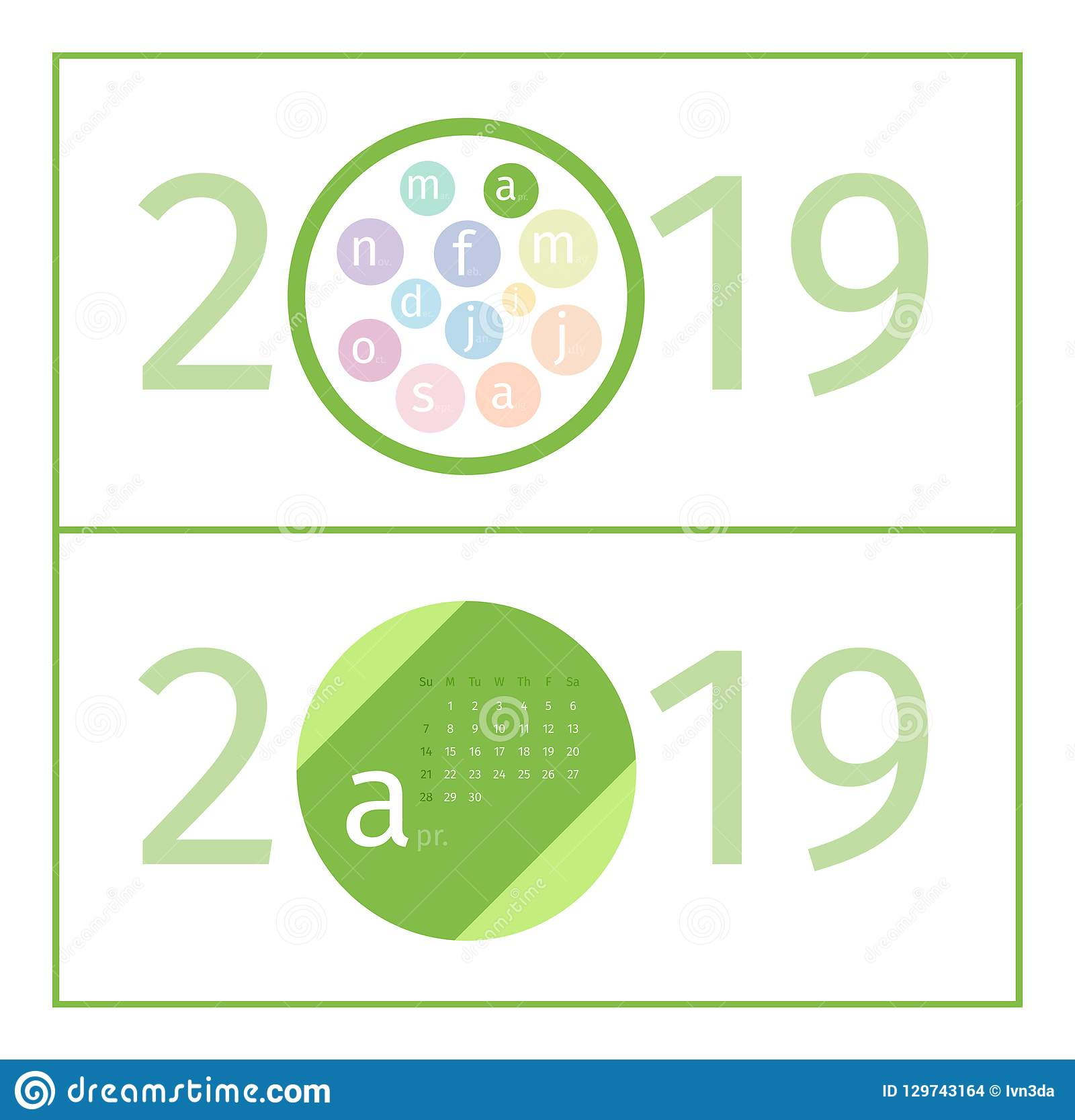 April Calendar Page Template 2019