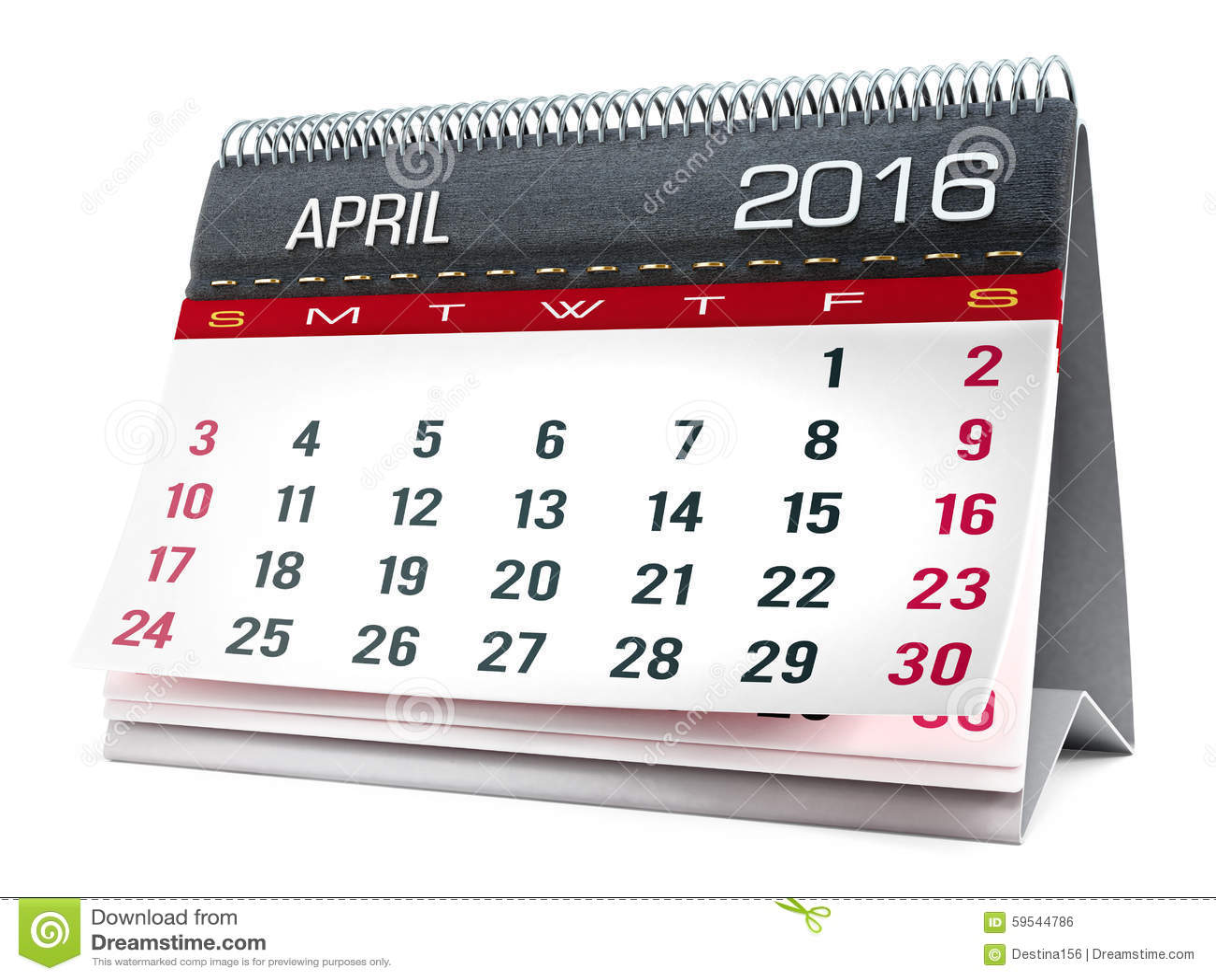 Desktop Calendar April 2016 april 2016 desktop calendar stock illustration - image: 59544786