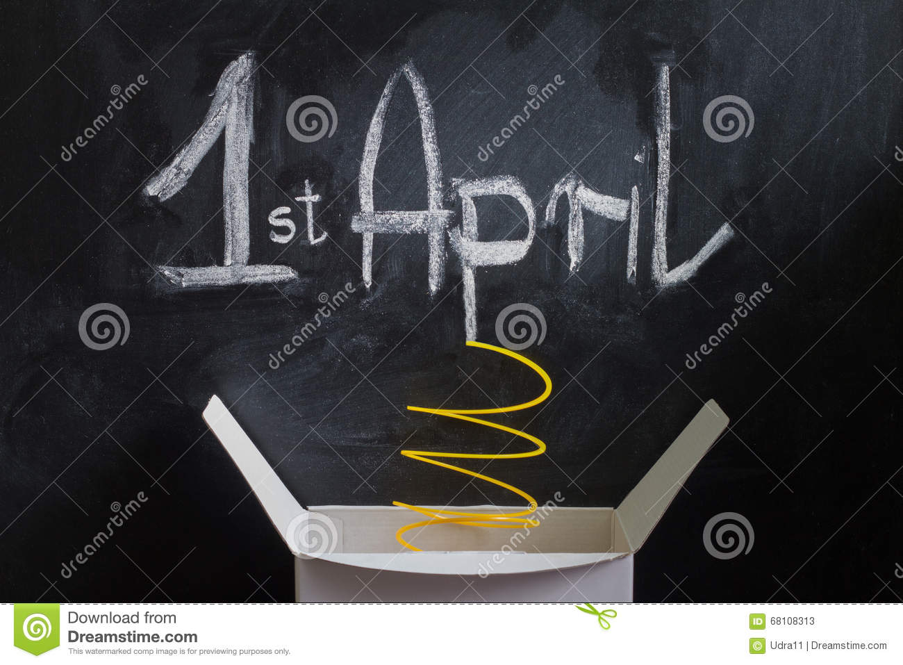 What is april fool's background?