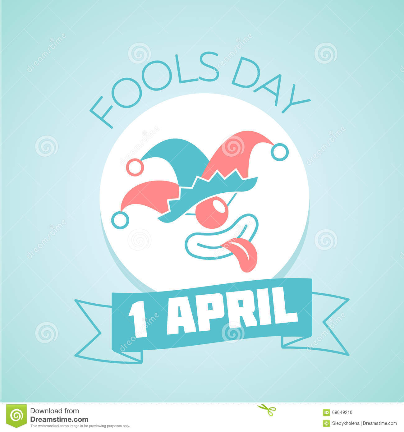 Calendar April Fools : April fools day calendar icon vector illustration